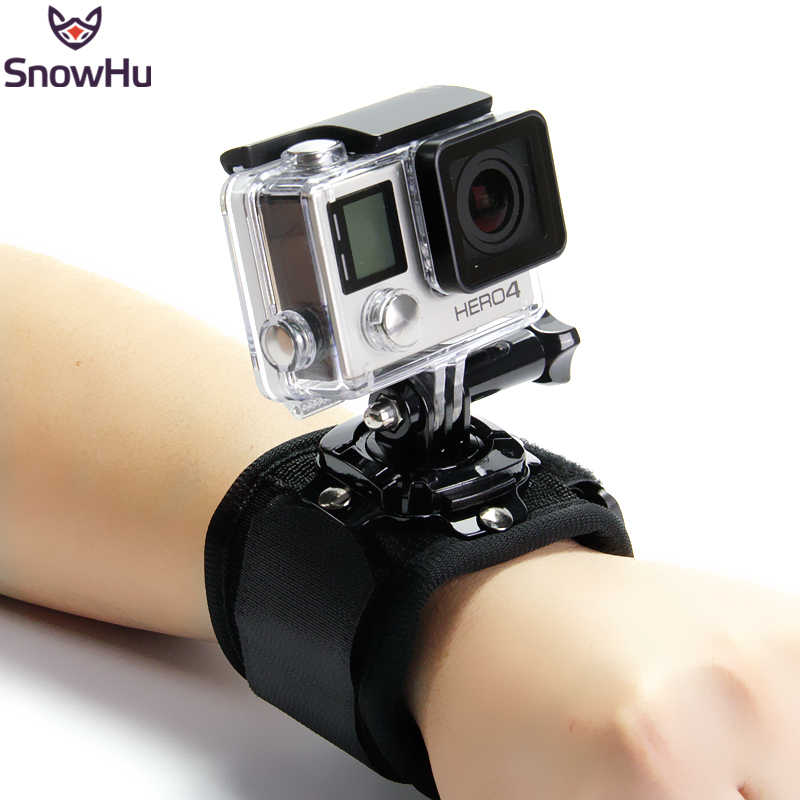 SnowHu 360 Degree Rotation Hand Wrist Strap for GoPro Hero 7 5 6 4 Session Xiaomi Yi 4K Lite H9r Arm Belt Go Pro Accessory GP128