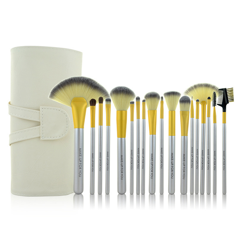 1 Highquality Smooth Fibre Makeup Cosmetic Brush Professional Beauty tools cleaner kit blending Powder set