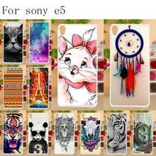 Anunob Soft TPU For Capa Sony Xperia E5 Case Cover F3311 F3313 Painted Protective Back FOR Funda