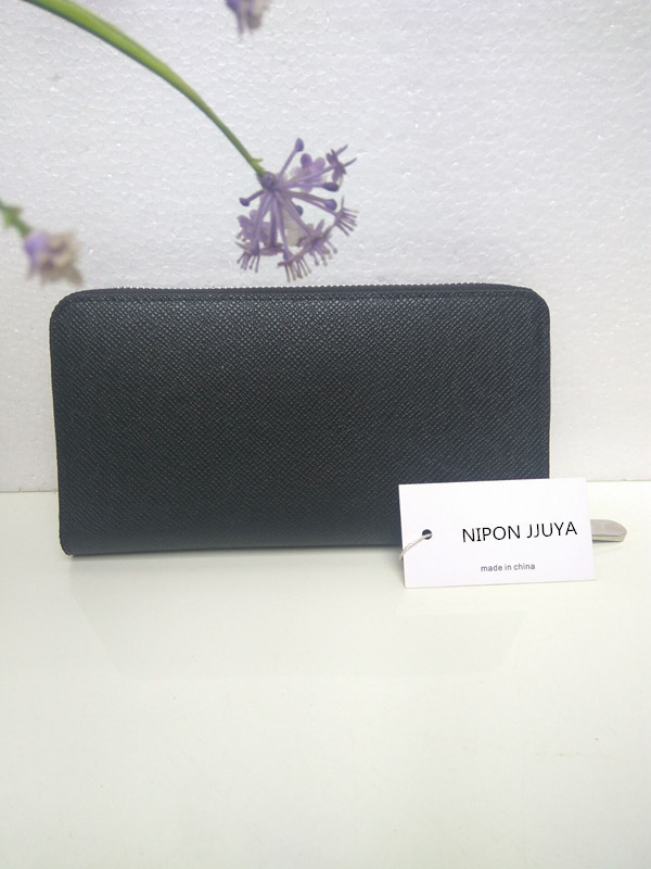 Free shipping 2017NIPON JJUYA Hot selling Genuine Leather Wallet hot selling 2017nipon jjuya high quality genuine leather zippy wallets with dust bag and box free shipping
