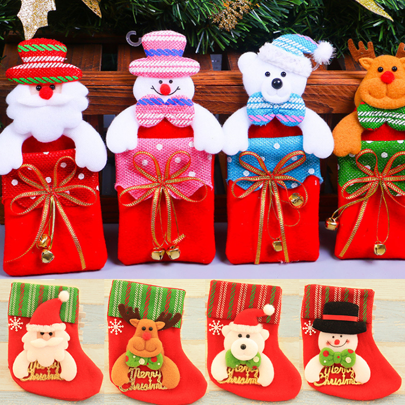 1PC Hot Christmas Cute Ornaments Festival Party Xmas Tree Hanging Decoration Sequins Gift Bag