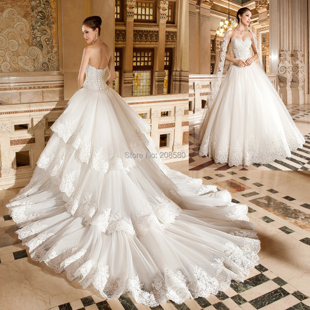 Concise Strapless Mermaid Pearl Court Train Wedding Dress train wedding dress Larger image