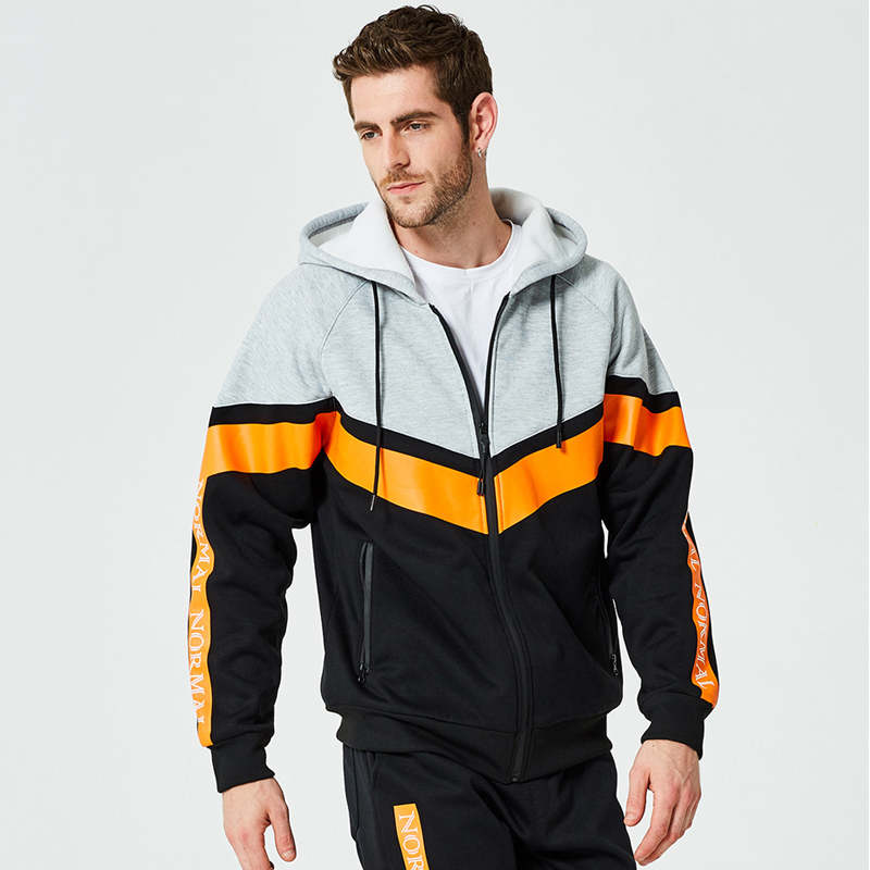 WXCTEAM Fashion Brand Men Set Cardigan Sweatshirt Pants Long 2018 Streetwear Men's Zipper Letter Print Tracksuit Men EU Size