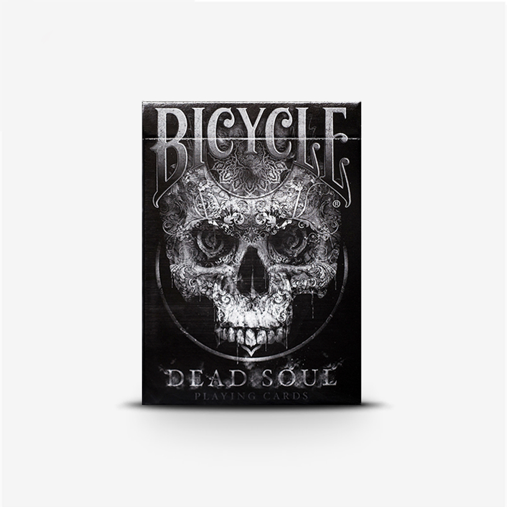 1 Deck Bicycle Dead Soul Playing Cards Magic Tricks black Colors Standard Poker Magic Card Game Collection Poker chic faux turquoise carving flower bracelet for women