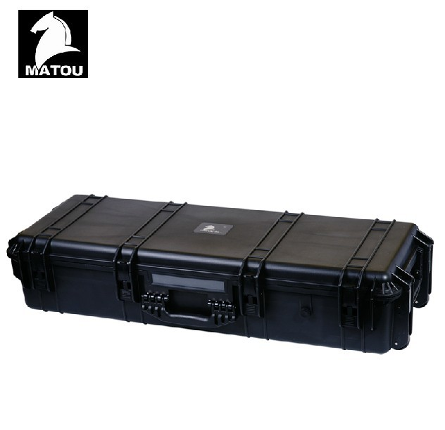 long Tool case toolbox Impact resistant sealed waterproof case Photographic equipment camera case gun case with pre-cut foam case