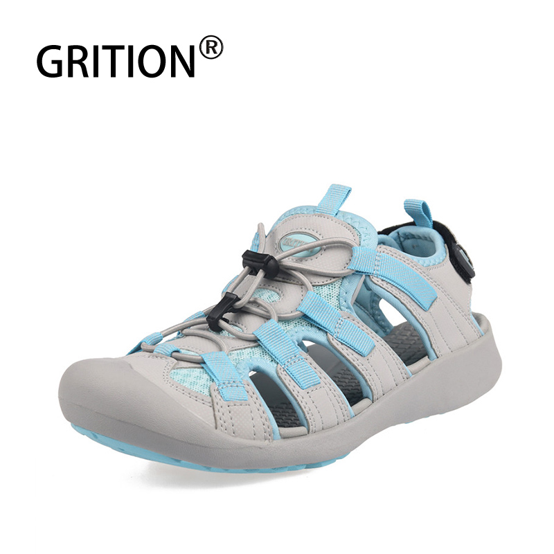 GRITION Outdoor Sandals For Women Outdoor Breathable Summer Beach Shoes Anti-skid Lightweight Hiking Sandals Sandalias De Mujer