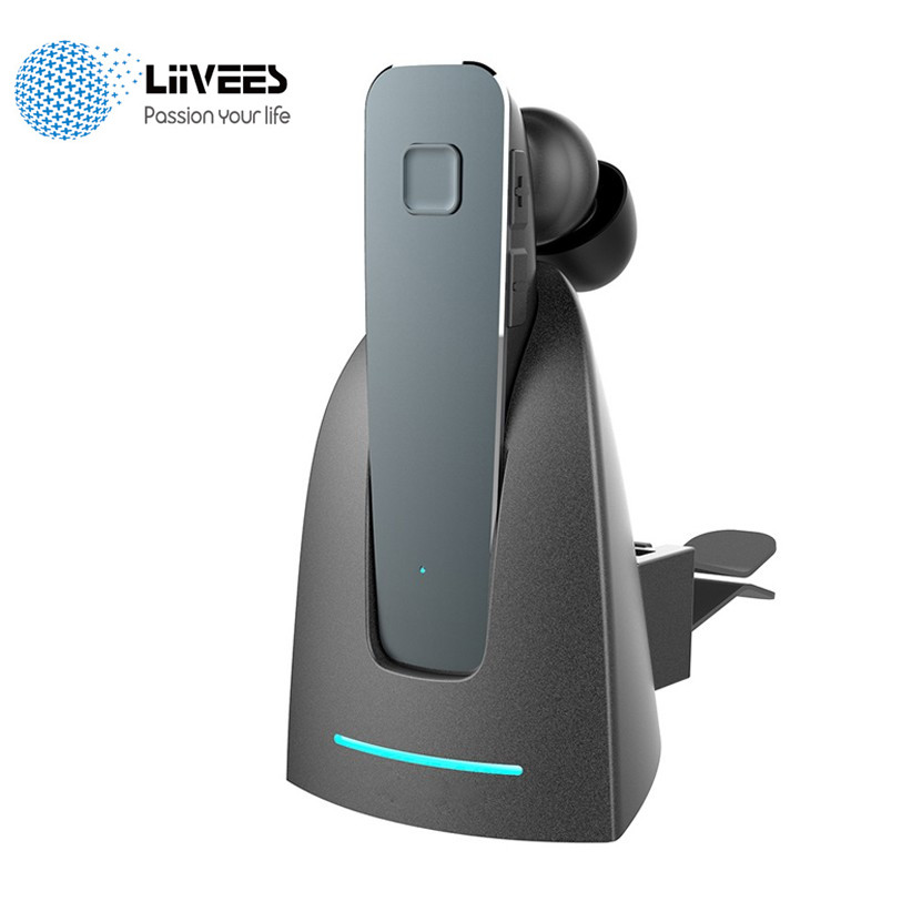 Liivees R6100 mini Wireless inear Bluetooth Business Earphone Stereo Earbuds with Mic Support Car Charger Phone 2 in 1 handsfree yinkuu portable 2 in 1 usb dock car phone charger wireless bluetooth mini earphone stereo handsfree headset earbuds t20