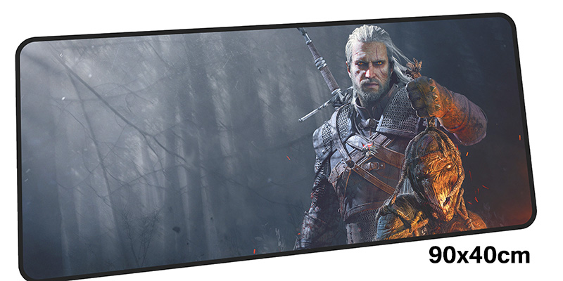 лучшая цена witcher mouse pad gamer 900x400mm notbook mouse mat gel large gaming mousepad HD pattern pad mouse PC desk padmouse accessories