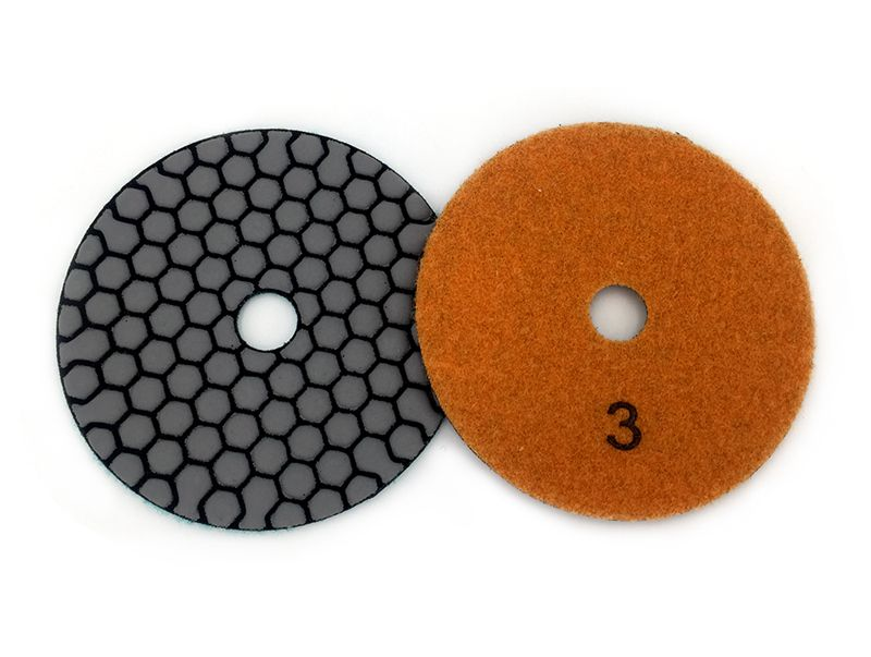Dry polishing pad 4 inch Sharp type diamond polishing pads For Granite Marble Sanding Disc For Stone 4G-6 | 6 Pcs 100mm