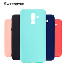 For Samsung Galaxy J8 2018 case Candy Matte 360 Silicon Soft tpu case cover For Samsung Galaxy J8 2018 Slim Phone Back Cover цена