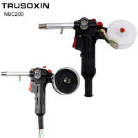 MIG schweißen maschine Spool Gun Push Pull Feeder Aluminium kupfer oder edelstahl DC 24V Motor Draht 0,6- 1,2mm Schweißen Fackel
