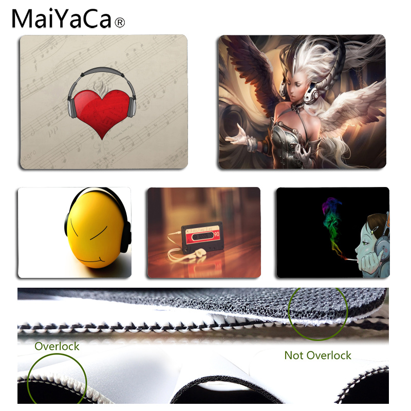 MaiYaCa The headset Customized laptop Gaming mouse pad Size for 25x29CM Speed Version Gaming Mousepads