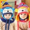High Quality Autumn Winter Kids Super Cute Monkey Handmade Warm Knitted Hat Children Baby Infant Cap