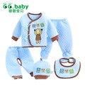 Set de Regalo recién nacido de Algodón de Invierno Baby Boy Outfit Ropa Set oso Bebes Chándal Camiseta Pantalones Bebé Recién Nacido Trajes de Ropa conjuntos