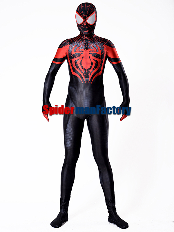 Miles Morales spiderman Costume Male 3D Superhero Spider-man Costume Cosplay Zentai Costume Custom Made Available