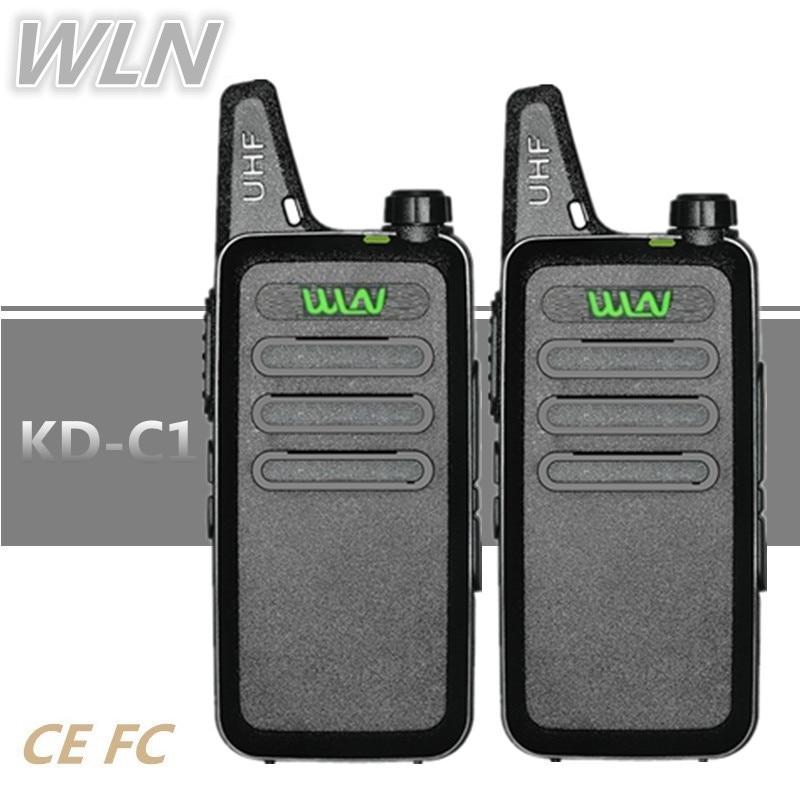 2PCS WLN KD-C1 5W Mini Walkie Talkie Handheld HF Transceiver BAOFENG BF-T1 UHF Kids Radio Comunicator Ham CB Radio Station