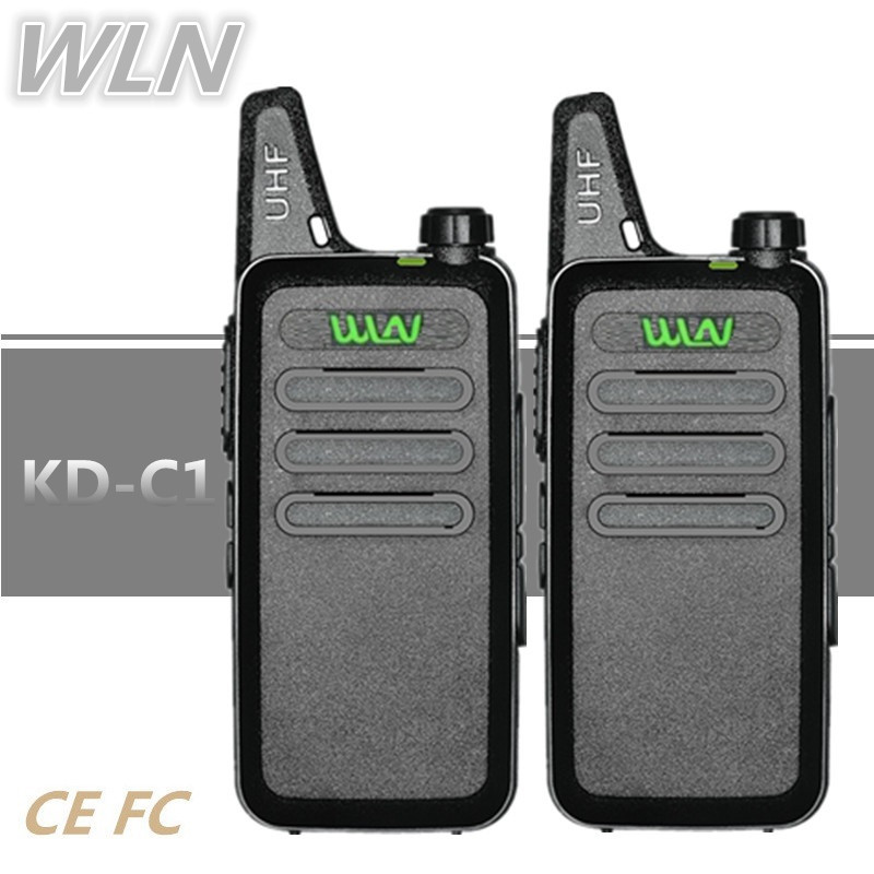 2PCS WLN KD-C1 Mini Walkie Talkie Handheld HF Transceiver BAOFENG BF-T1 UHF Radio Communicator Ham CB Radio Station WLN KD-C1