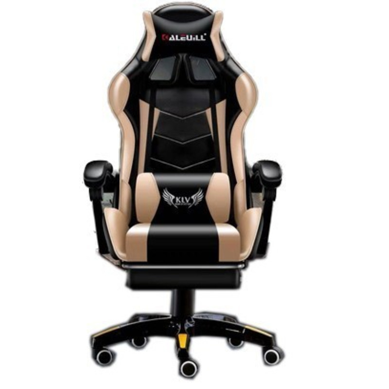 Luxury Quality D-1 Live Gaming Silla Gamer Poltrona Esports Synthetic Leather Chair With Footrest Can Lie Office Furniture