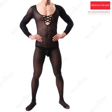 Cross Dresser Male Hot Bodystocking Sexuality Crisscross Nylon Fetish Hormones Horny Man Dressing Black Bodysuit Outfit