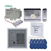 Entrada de Segurança eletrônica woden Porta Portão Elétrico de aço aro kit com bloqueio RFID senha kepyad 10 tags + 10 pcv cartões inteligentes