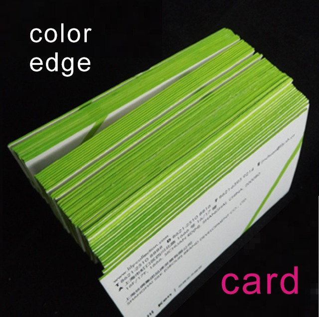 Color Edge Thick Business Card Printing Custom In Business Cards