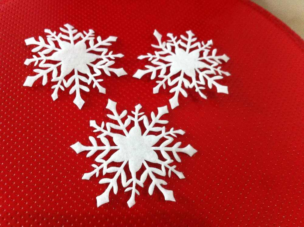 20PCS 7CM White Fake Snowflakes For Home Christmas Party New Year Xmas Tree Pendants Ornaments Window Decoration