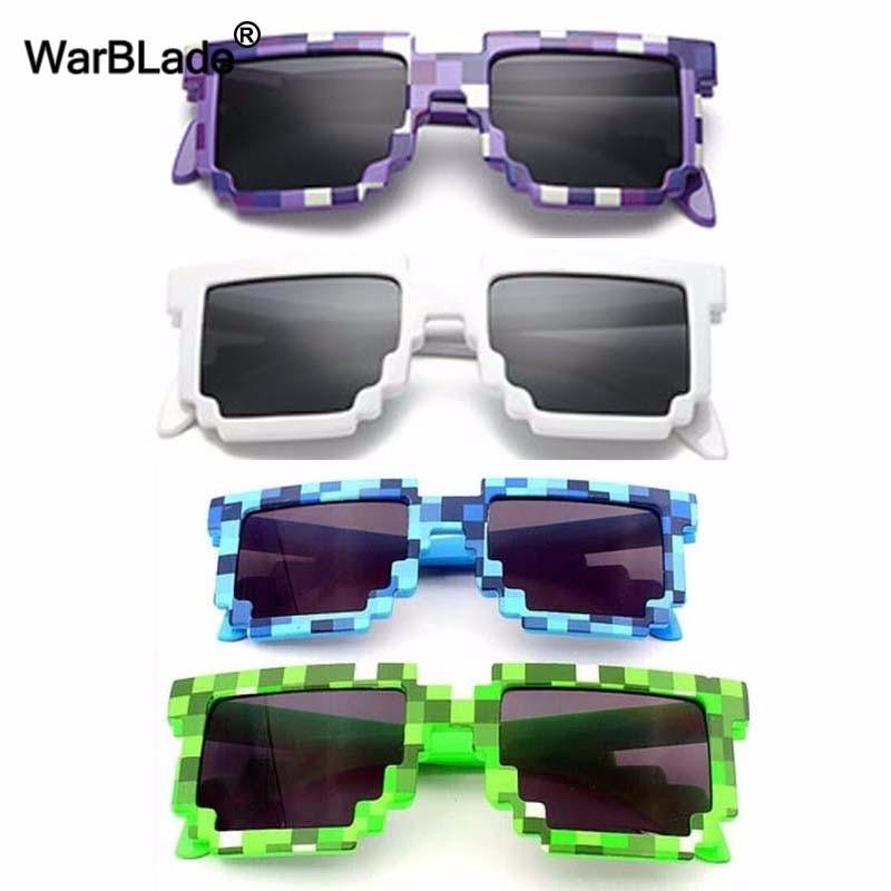 10 Teile/los Kinder Sonnenbrille Kleiner Größe Cos Spielen Action Spiel Spielzeug Minecraft Sonnenbrille Mosaik Jungen Mädchen Kinder Pixel Eyewares Jungen Gläser