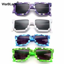 7e043e17ec62 10pcs lot Kids Sunglasses Smaller Size Cos Play Action Game Toys Minecraft  Sunglasses Mosaic Boys