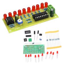 LED Light Chaser woda płynąca światło LED elektroniczne zestawy do samodzielnego wykonania moduł NE555 + CD4017 sterownik zasilany wodą NE555 obwód czerwony tanie tanio JETTING Elektryczne Pls check description