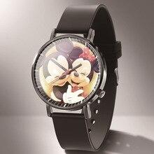 2019 Mickey Mouse New Fashion Quartz Watch Women Casual Dress reloj hombre Boy Girl Anime Cartoon  kobiet zegarka