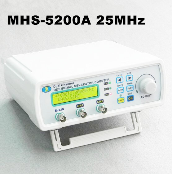Digital Signal Source Generator Arbitrary Waveform MHS-5200A Frequency Meter DDS Dual-channel Generators 25MHz jds6600 dual channel function arbitrary waveform signal generator 8m 25m 40m pulse signal source frequency meter