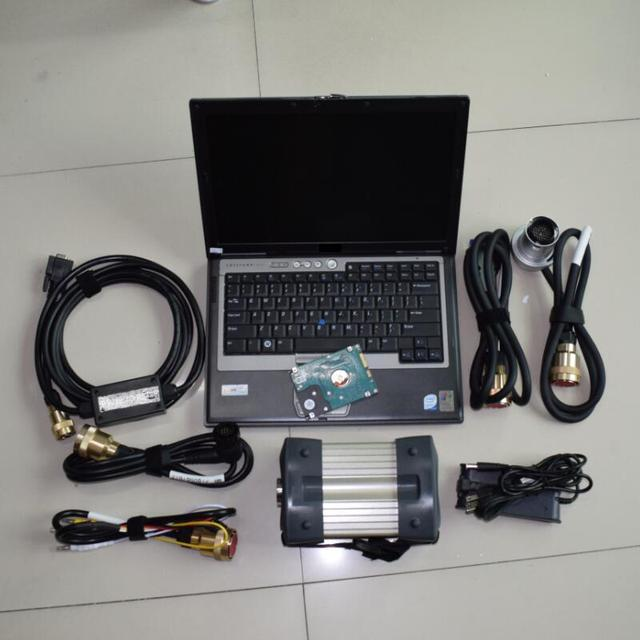 Best sale MB Star C3 + software HDD+ mb star c3 full set RS485 cables + 4GB d630 Laptop ready to use for benz cars