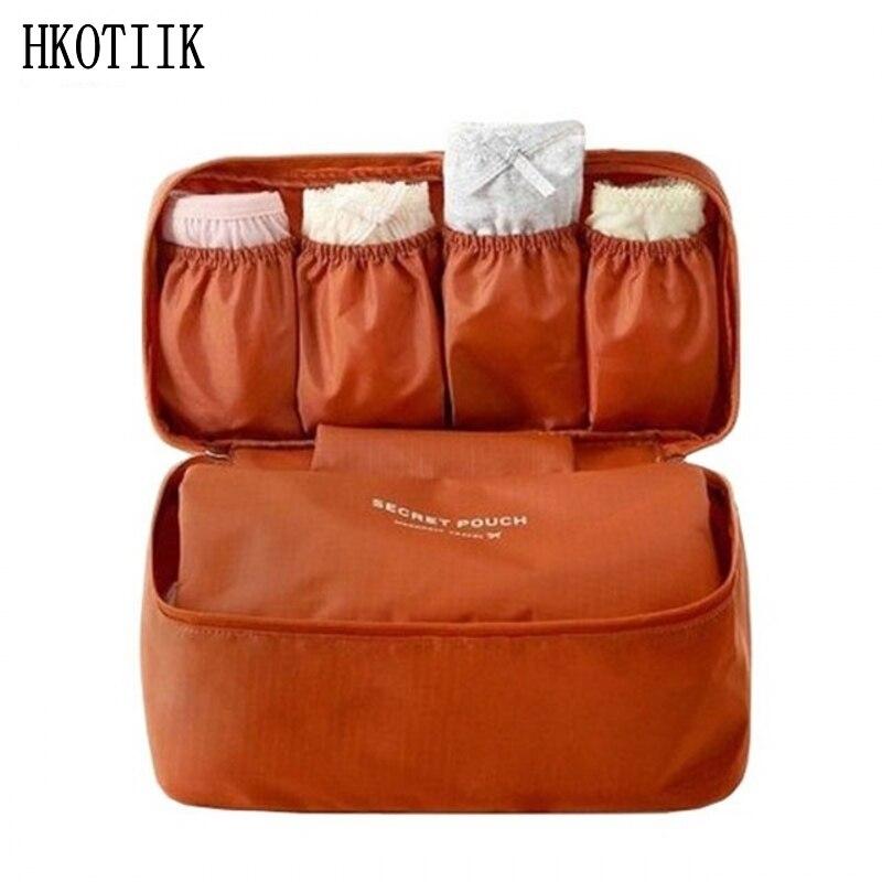 Highquality Portable Waterproof Women Underwear Bras Storage Bag Girl Travel Cosmetic Makeup Organizer Bag Luggage WashBag цена