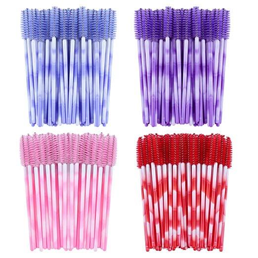 Fashion Eyelash Extension Brushes  Disposable Mascara Wands Applicator Lashes Tools 1000pcs/lot Colorful Handle 6 Colors
