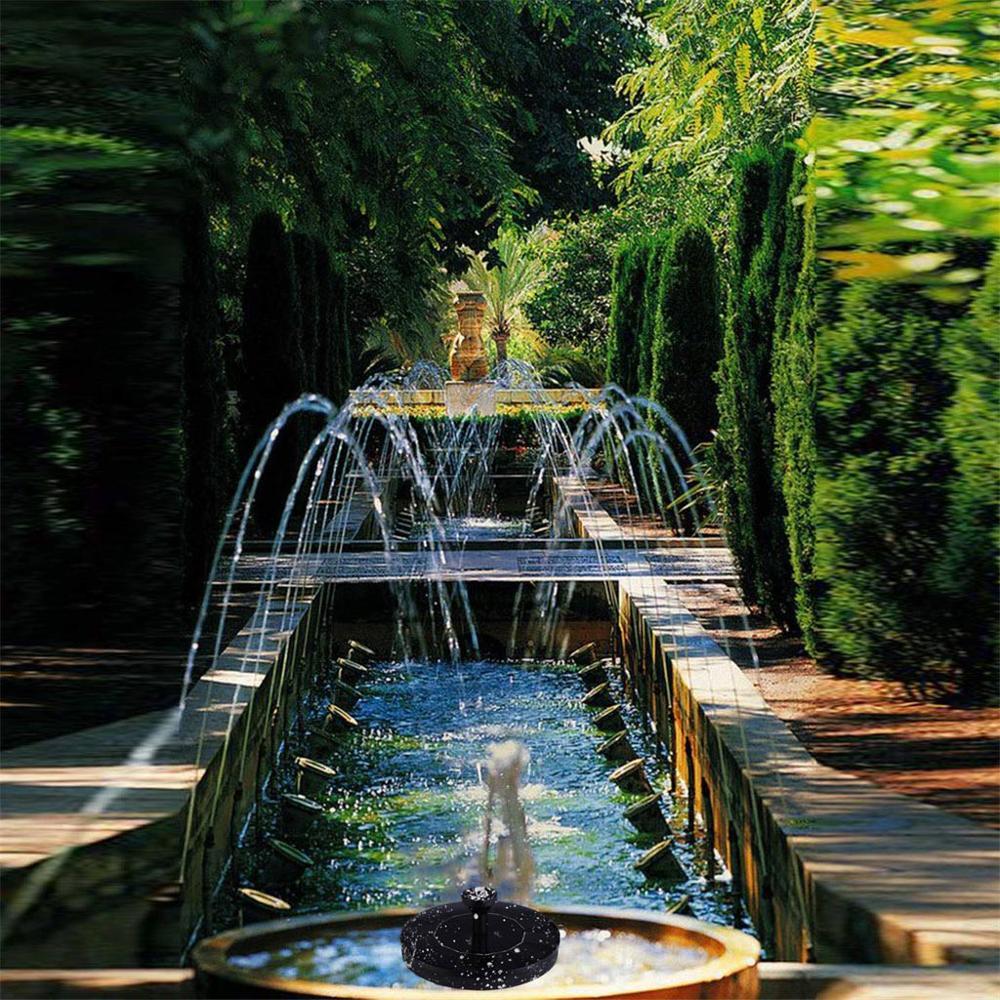 Image 2 - Солнечный фонтан Солнечный фонтан воды садовый бассейн, пруд солнечная панель на открытом воздухе фонтан плавающий фонтан садовое украшение-in Фонтанчики и поилки для птиц from Дом и животные