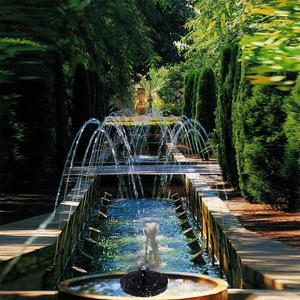 Image 2 - Solar Fountain Solar Water Fountain Garden Pool Pond Outdoor Solar Panel Fountain Floating Fountain Garden Decoration