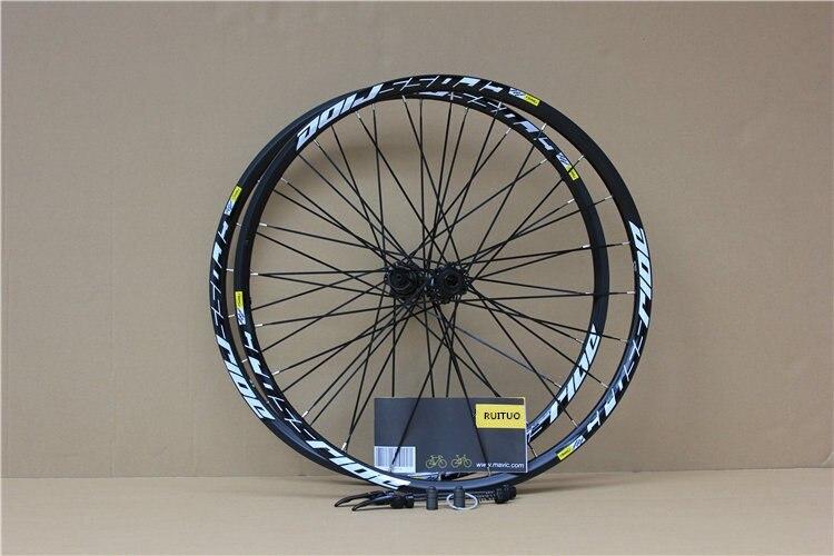MTB Mountain Bike Bicycle Sealed Bearing 26inch Wheel Six Hole Central Lock Wheelset Rim 27.5 29