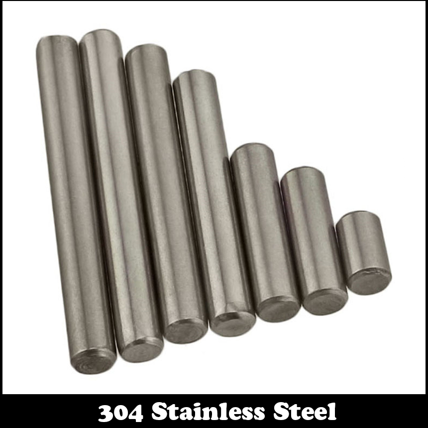 10pcs M5 M5*20 5x20 304 Stainless Steel Fasten Cylinder Solid Pins Fixed Parallel Dowel Pin 100 pcs stainless steel 2 9mm x 15 8mm dowel pins fasten elements