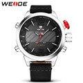 Nuevo WEIDE Relojes Deporte de Los Hombres Correa de Cuero hombre reloj Digital LED Reloj de Los Hombres Del Ejército Militar Reloj relogio masculino
