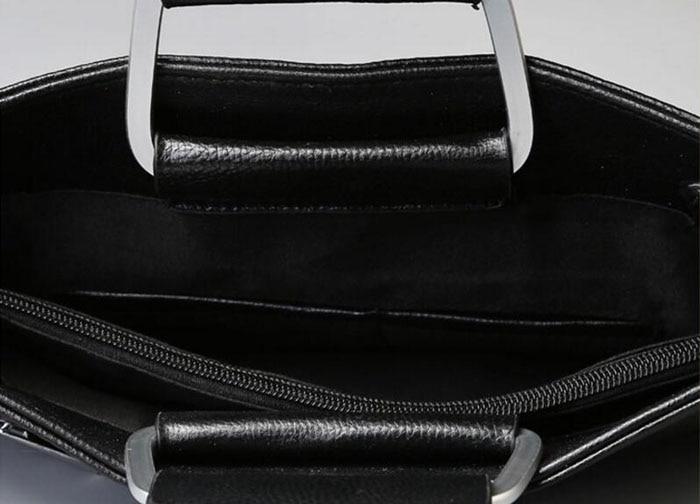 15ab15a0749 ... Black Pu Leather Laptop Briefcase Men Tote Work Bag A4 Large Capacity  Hand Bag Bolsas. Size 36cm(Length)×28cm(Height). 470 471 469 468 467 464  465 466