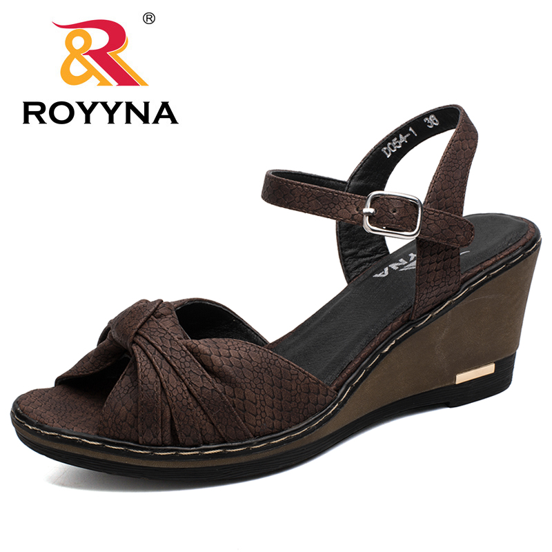 ROYYNA New Popular Style Women Sandals Summer Wedge Plaform Lady Flip Flops Trifle Shoes For Women Comfortable Free Shipping royyna new sweet style women sandals cover heel summer gingham women shoes casual gladiator ladies shoes soft fast free shipping