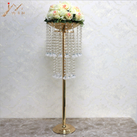 Acrylic Road Lead Crystal Wedding Centerpiece Table Flower Vase Stand Bead Rack 32 Tall 10 Diameter Party Home Decoration