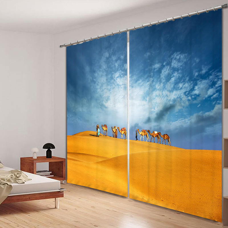 Desert Curtains print Luxury Blackout 3D Window Curtains For Living Room office Bedroom Drapes cortinas Rideaux Customized size