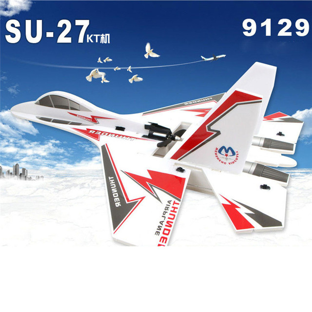 US $157 22 10% OFF New 1 Piece Hot SaleRemote Control Airplane KT SU 27  Airplane/Jet + 6CH RC Fighter Foam Glider Kits ControleRemoto Toys 15-in RC