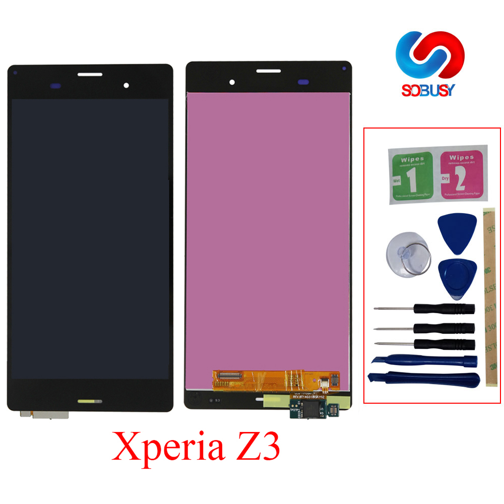 A+ LCD For SONY Xperia Z3 LCD Display D6603 D6633 D6653 L55T For SONY  Xperia Z3 Dual LCD Display Touch Screen with Frame Replace