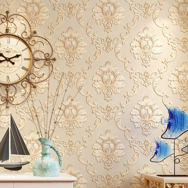 beibehang European style non woven wallpaper relief co pressure wallpaper living room bedroom backdrop papel de parede wallpaper
