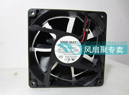 NMB-MAT 4715KL-05T-B40 24V 0.46A 12CM120*120*38  2 wire inverter cooling fan nmb 3610kl 05w b49 9225 24v 3 wire cooling fan blower