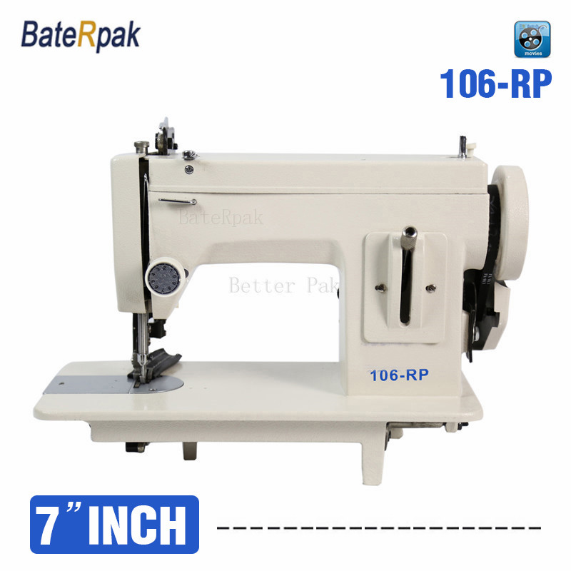 106-RP Household sewing machine,BateRpak fur,leather,fell clothes thicken sewing machine.Thick fabric material sewing machine machine