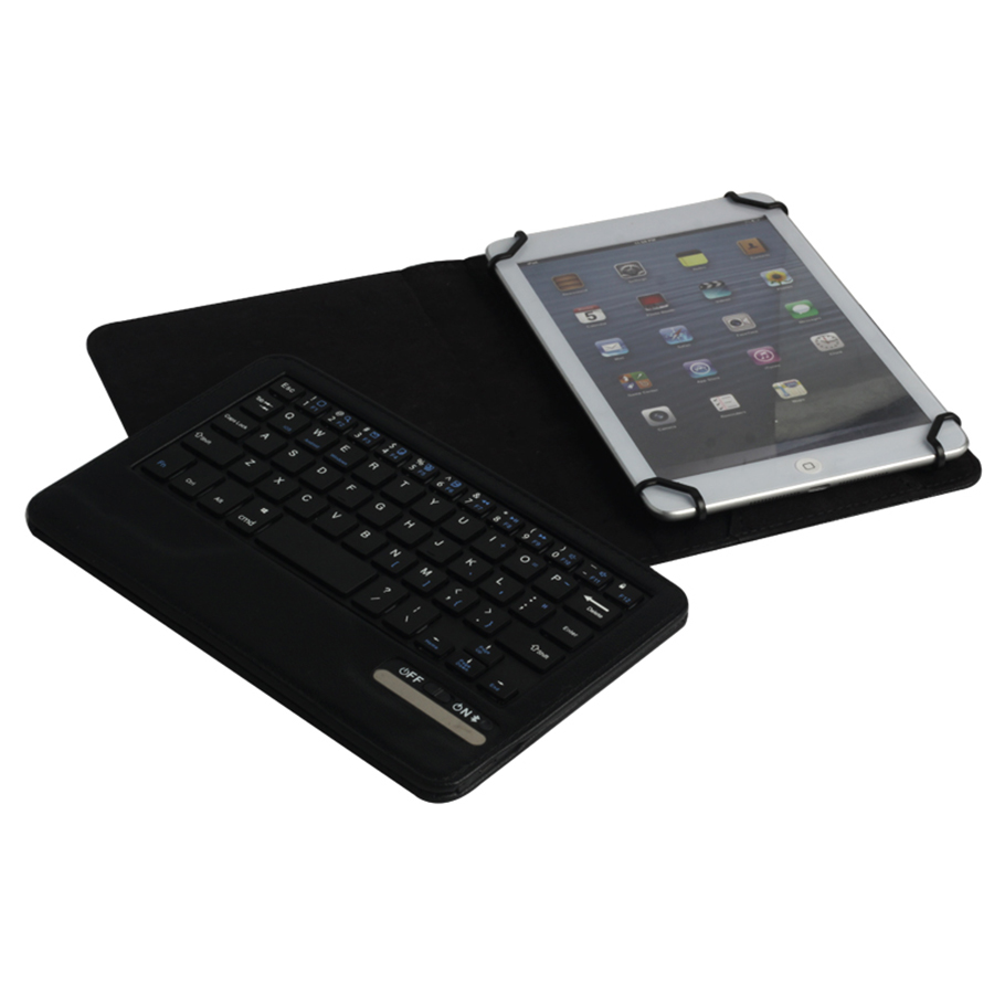 Universal Bluetooth Keyboard Case 7 7.9 8 inch Tablet PC PU Leather Stand Cover Detachable Wireless Keypad for iPad mini (10)