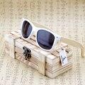 Bobobird retangular de bambu madeira óculos polarizados com reflexiva do espelho de grandes dimensões Tint óculos de sol com caixa de presente